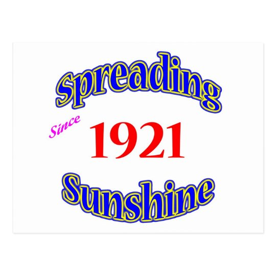 1921 Spreading Sunshine Postcard