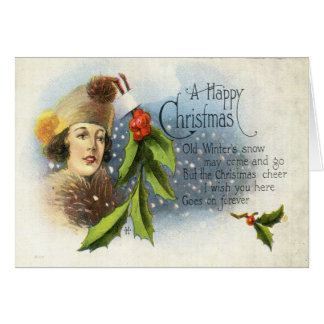 1922 A Happy Christmas Greeting Card