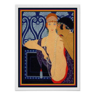1922 George Barbier Art Deco Print 12 x 16