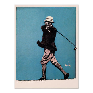 1922 Golf Illustration - Print