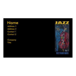 1922 JAZZ BLUE BASS BUSINESS CARD