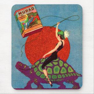 1922 Murad cigarettes lady riding giant tortoise Mouse Pad