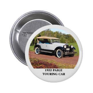1922 Paige Touring Car Pinback Button