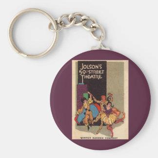 1923 Al Jolson's Theatre playbill cover Keychain