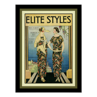 1923 Elite Styles Art Deco Fashion Print 12 x 16
