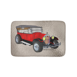 1923 Olds Touring, Red - Bathroom Mat
