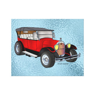 1923 Olds Touring, Red - Canvas Print