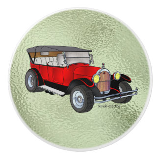 1923 Olds Touring, Red - Ceramic Knob
