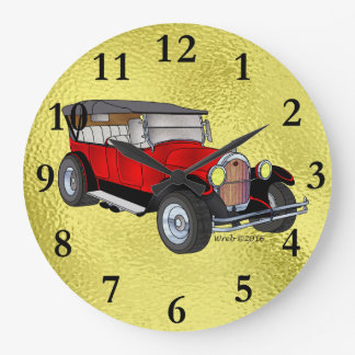 1923 Olds Touring, Red - Large Clock
