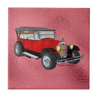 1923 Olds Touring, Red - Tiles