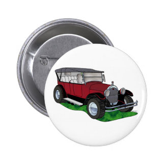 1923 Oldsmobile Touring - Red 2 Inch Round Button
