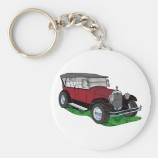 1923 Oldsmobile Touring - Red Basic Round Button Keychain