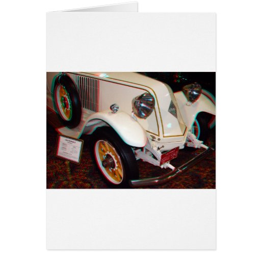 1923 Renault, Anaglyph Greeting Cards