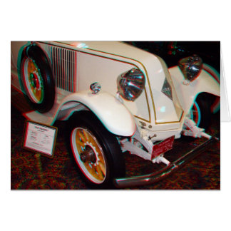 1923 Renault, Anaglyph Greeting Card