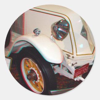 1923 Renault, Anaglyph Round Sticker