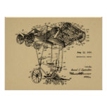 1924 Flying Bicycle Airplane Patent Drawing Print