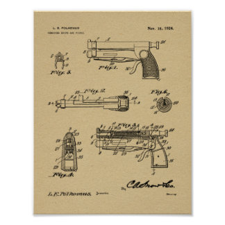 1924 Knife Gun Patent Art Drawing Print