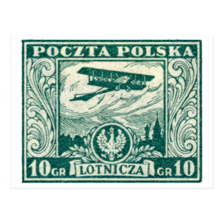 1925 10gr Polish Airmail Stamp Postcard