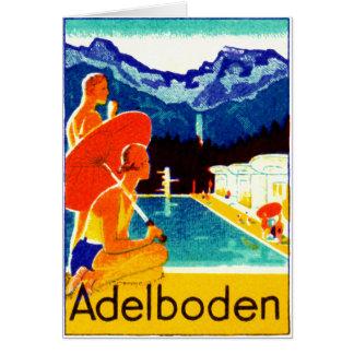 1925 Adelboden Switzerland Poster Card