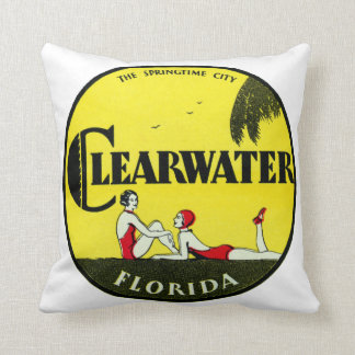 1925 Clearwater Florida Throw Pillow
