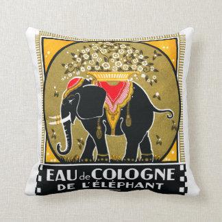 1925 Cologne De L'Elephant Throw Pillow