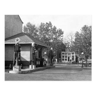 1925 Gas Station Postcard