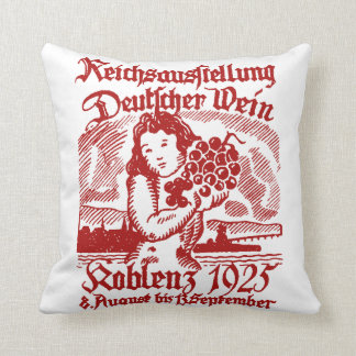 1925 German Wine Festival Throw Pillow