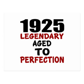 1925 LEGENDARY AGED TO PERFECTION POSTCARD