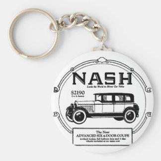 1925 Nash Automobile Advertisement Keychain