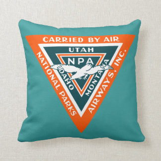 1925 National Parks Airways Throw Pillow