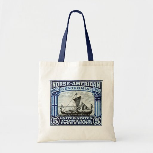 1925 Norse American Stamp Tote Bag
