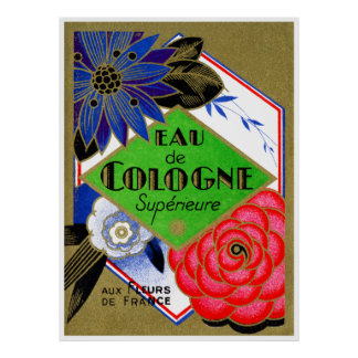 1925 Superieure Flowers of France perfume Poster