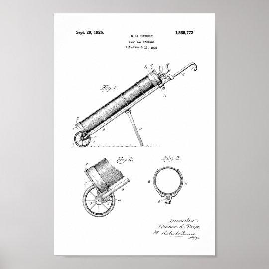1925 Vintage Golf Bag Patent Art Print