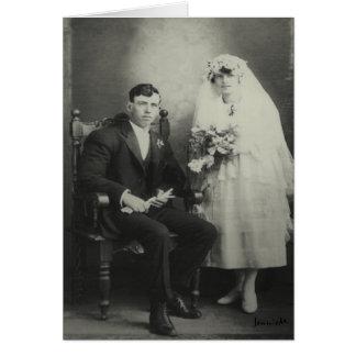 1925 Wedding Day Card