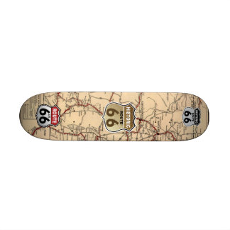 1926 New Mexico Map of Historic Route 66 Skateboard