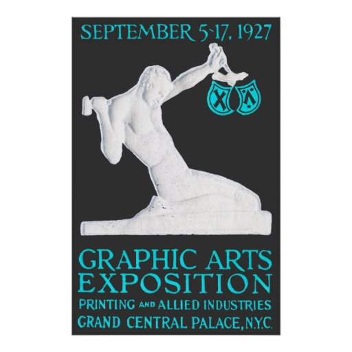 1927 Graphic Arts Expo Poster