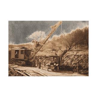 1927 Northwest Crane Loading Truck Photograph Canvas Print