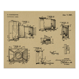 1927 Vintage Camera Patent Art Drawing Print