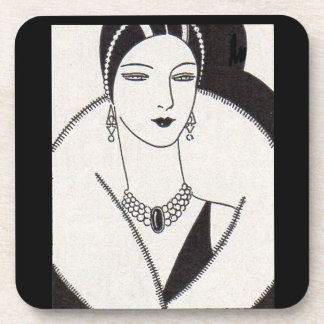 1928 art deco woman coaster
