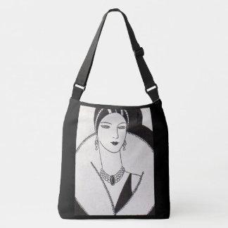 1928 art deco woman crossbody bag