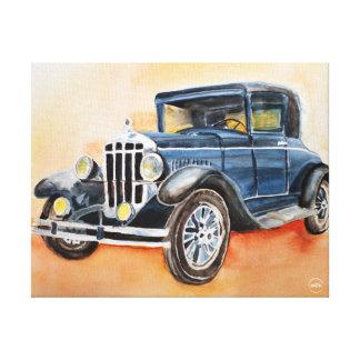 1928 Durant Watercolor Canvas Print