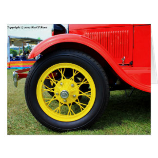 1928 Ford big greeting card