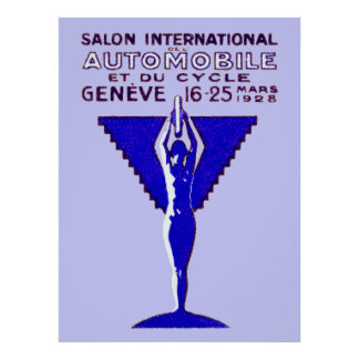 1928 Geneve Car and Motorcycle Show Posters