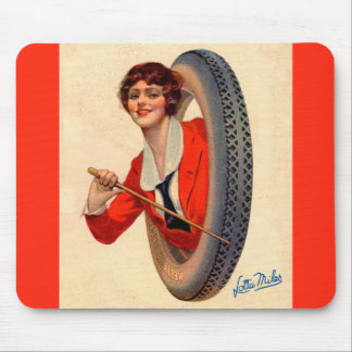 1928 Kelly-Springfields Tire mascot Lotta Miles Mouse Pad