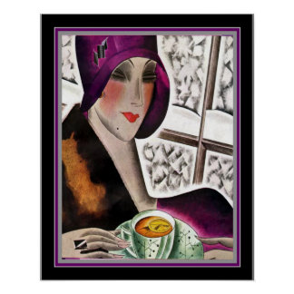 1929 Art Deco Print by Helen Dryden 16 x 20