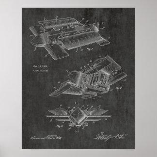1929 Bizarre Airplane Patent Art Drawing Print