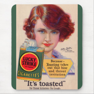1929 Lucky Strikes ad with Billie Burke Mouse Pad
