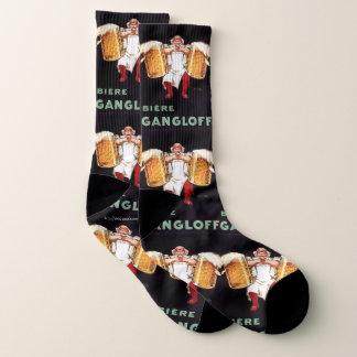 """""""1930-Biere Gangloff, beer socks"""" Socks"""