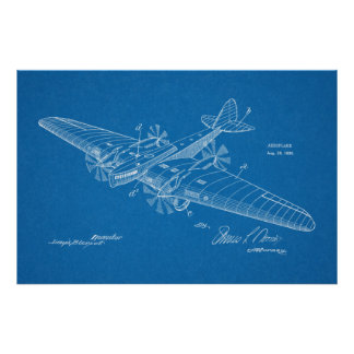 1930 Boat Airplane Patent Art Drawing Print