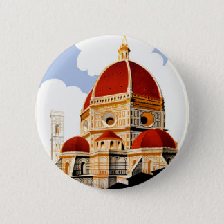 1930 Florence Italy Travel Poster 2 Inch Round Button